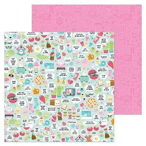 Papel Scrapbook - Doodlebug - So Punny - So Punny
