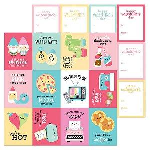 Papel Scrapbook - Doodlebug - So Punny - My Punny Valentine
