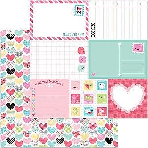 Papel Scrapbook - Doodlebug - So Punny - Work of Heart