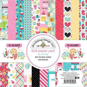 Bloco de papel para scrapbook So Punny - Amor - Doodlebug
