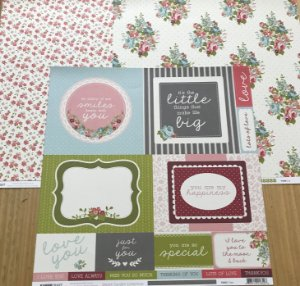 Kit com 03 papeis de scrapbook 30x30 - dupla face - Secret Garden - KaiserCraft