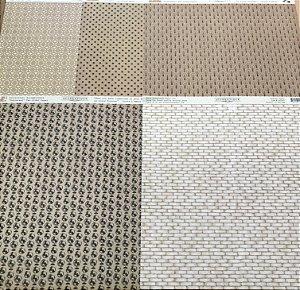 Kit com 05 papeis de scrapbook 30x30 - dupla face - Neutros - Authentique