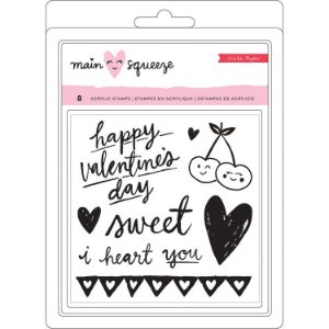 Carimbos de silicone (clear) Amor  Main Squeeze - Crate Paper