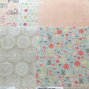 Kit com 05 papeis de scrapbook 30x30 - Dupla Face - Paper Cottage - Basic Grey