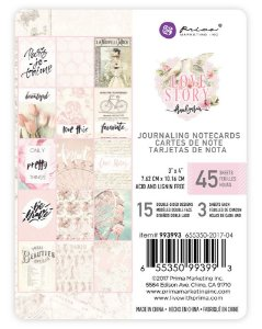 Bloco de cards 7,5x10 - Love Story - Prima