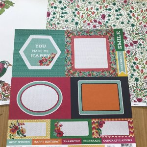 Kit com 03 papeis de scrapbook 30x30 - dupla face - Fiesta - Kaiser Crafts