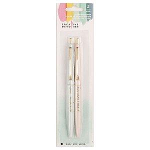 Kit 2 canetas pretas para journaling - Creative Devotion - American Crafts