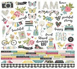 Adesivo 30x30 - I am - Simple Stories