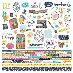 Adesivo 30x30 - Crafty Girl - Simple Stories