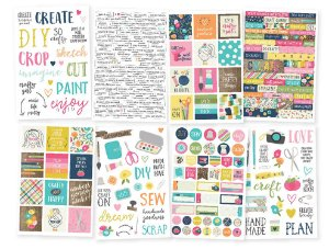 Adesivos com 8 cartelas Crafty Girl -  Simple Stories