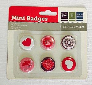 Botton - Mini Badges - Crazy for you - WeR