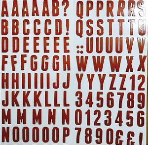 Adesivo em chipboard Alfabeto - Country - WeR