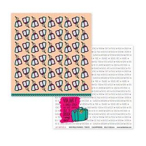 Papel para scrapbook - 30x30 Tokio - Linha Nós pelo mundo - Lari Batista