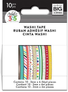 Kit com 10 washi tape fininhas Create 365 - WTSS-03- Me & My Big Ideas