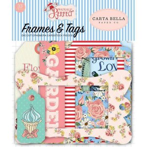 Die Cuts (recortes de papel) Frames e Tags - Practically Perfect - Carta Bella