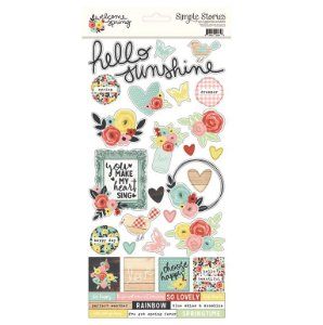 Adesivos 15x30 - Welcome Spring - Flores - Simple Stories