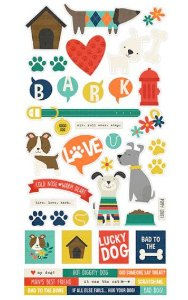 Adesivos 15x30 - Life is Ruff - Cachorro - Simple Stories