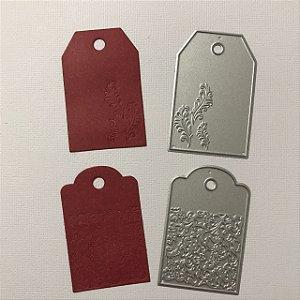 Kit de 2 facas de tags com emboss - FAC036-B - Art e Montagem