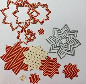 Kit de facas Flores 6 peças FAC066 - Art e Montagem