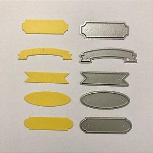 Kit de facas de corte Bandeiras - FAC090 - Art e Montagem