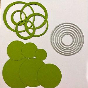 Kit de facas de corte 6 peças Círculos FAC029 - Art e Montagem
