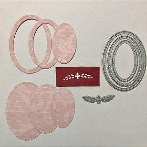 Kit de facas de corte 4 peças Oval FAC094 - Art e Montagem