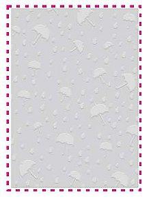 Placa de emboss A6 Sombrinhas - Art & Montagem