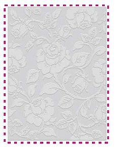 Placa de emboss A6 Rosas - Art & Montagem