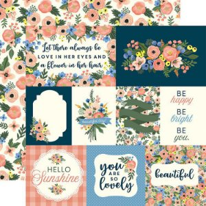 Papel Scrapbook - Flora n. 2 - Primrose Journaling Cards - Carta Bella