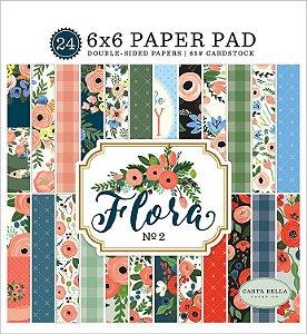 Bloco de papel scrapbook 15x15cm - Flora n. 2 - Carta Bella