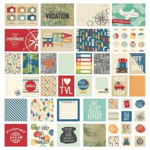 Kit de cards - Viagem - Travel Notes - Simple Stories