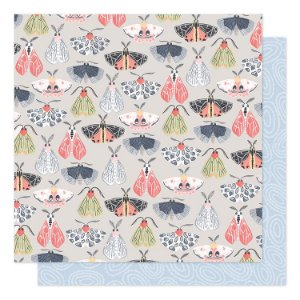 Papel Scrapbook - Twilight - Fly of Moths - American Crafts