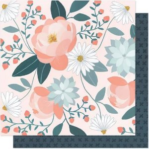 Papel Scrapbook - Twilight - Peony - American Crafts