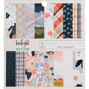 Bloco de papel para scrapbook 15x15 - Twilight - American Crafts
