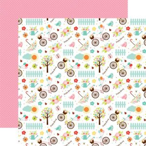 Papel Scrapbook - Hello Spring - Happy Spring - Echo Park