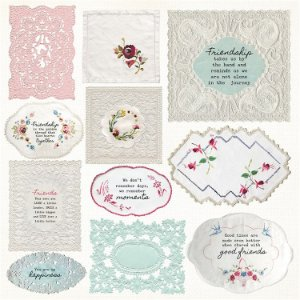 Papel Scrapbook - Vintage - Miss Betty- Handkerchief - Kaisercraft