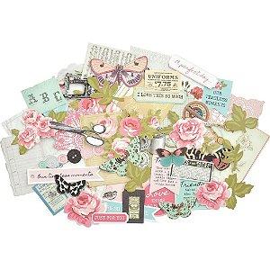 Die cuts (recortes de papel) com 58 peças - Vintage - Miss Betty- Kaisercraft