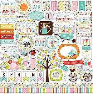 Adesivos 30x30 Hello Spring - Echo Park