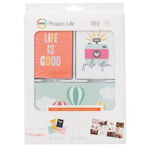 Kit de cards com 180 peças Funday - Project Life - American Crafts