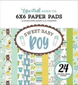 Bloco de papeís 15x15 Bebê Menino - Sweet Baby Boy - Echo Park