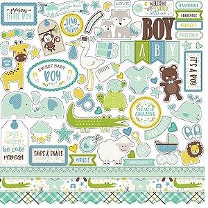 Adesivos 30x30 Bebê Menino - Sweet Baby Boy - Echo Park