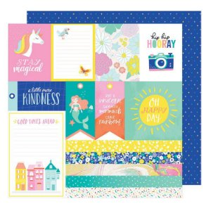 Papel Scrapbook - Dear Lizzy - Stay Colorful - JIve Talkin - American Crafts