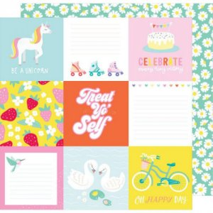Papel Scrapbook - Dear Lizzy - Stay Colorful - Banana Seat - American Crafts