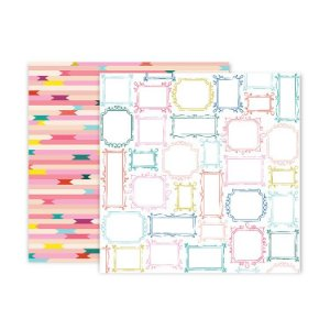 Papel scrapbook 30x30 19 Pick me up - Paige Evans -  Pink Paislee