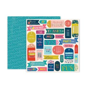 Papel scrapbook 30x30 13 Pick me up - Paige Evans -  Pink Paislee