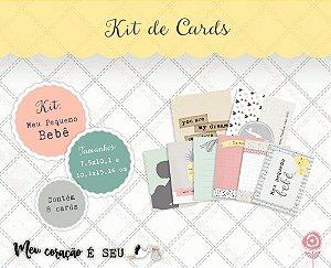 Kit de cards Meu pequeno bebê - Coleção Meu Coração é Seu - Juju Scrapbook