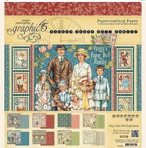 Bloco de papeis 20x20 - Penny's Paper Doll Family -  Graphic 45