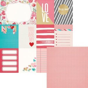 Papel para scrapbook 30x30 - Dupla Face - Crush Cards - WeR