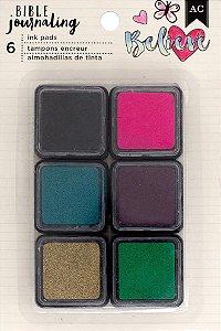 Kit 6 carimbeiras pequenas - Bible Journaling American Crafts