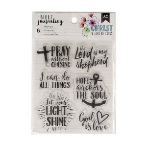 Carimbos de silicone - Bible Journaling American Crafts